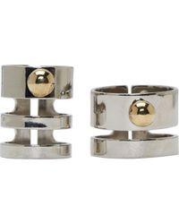 Caterina Zangrando | Metallic Silver Brass Afrodite Two_piece Ring | Lyst