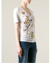 DSquared² - White Printed Tshirt - Lyst