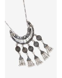 Nasty Gal | Metallic Moon Chaser Crescent Necklace | Lyst