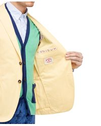 Brooks Brothers - Yellow Cotton Twill Sport Coat for Men - Lyst