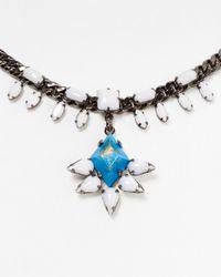 DANNIJO - Blue Janey Necklace 16 - Lyst
