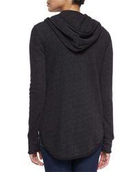 ATM - Gray Cotton-Blend Zip Hoodie - Lyst