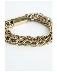 Missguided - Metallic Magna Gold Link Bracelet - Lyst