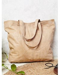 Free People | Natural Womens Sierra Leather Tote | Lyst