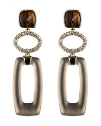 Alexis Bittar | Metallic 'lucite' Link Drop Earrings | Lyst