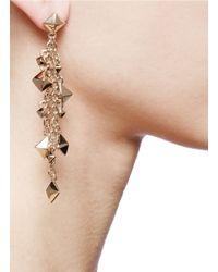 Valentino | Metallic Pendant Stud Earrings | Lyst