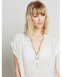 Free People | Metallic Double Layer Rosary | Lyst