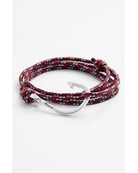 Miansai - Purple Silver Hook Rope Bracelet for Men - Lyst