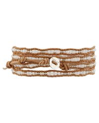 "Chan Luu | Natural 32"" White Mix/Beige Wrap 