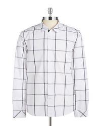 Guess | White Parker Windowpane Sportshirt for Men | Lyst