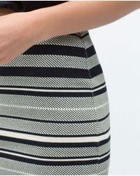 Zara | Gray Printed Skirt | Lyst
