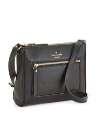 kate spade new york | Black Deni Leather Crossbody Bag | Lyst