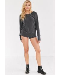 Truly Madly Deeply - Black Piper Button-back Pullover Sweatshirt - Lyst