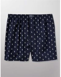 Polo Ralph Lauren | Blue Men's Underwear, Allover Pony Woven Boxers for Men | Lyst