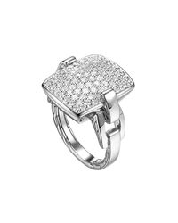John Hardy | Metallic Pave Diamond Ring | Lyst