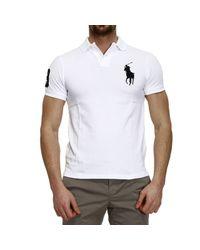 Polo Ralph Lauren - White T-Shirt Polo Half Sleeve Big Pony Slim Fit for Men - Lyst