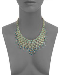 ABS By Allen Schwartz - Metallic Seaglass Brights Bib Necklace - Lyst