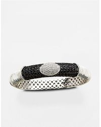 Lord & Taylor | Sterling Silver Black Sapphire And Diamond Bracelet | Lyst
