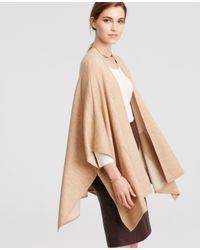 Ann Taylor | Natural Refined Pocket Cape | Lyst