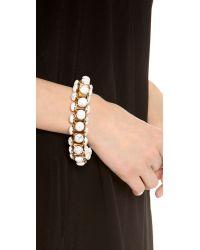 Lee Angel - White Howlite Cabochon Link Bracelet - Lyst