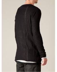 Lost & Found | Gray Double Layered Tshirt for Men | Lyst