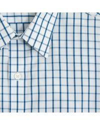 J.Crew - Blue Factory Slim Thompson Wrinklefree Pointcollar Dress Shirt in Large Tattersall for Men - Lyst
