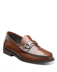 Florsheim | Brown Tuscany Leather Bit Moc Loafers for Men | Lyst