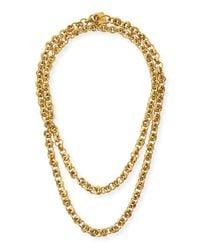 Ashley Pittman | Metallic Mini Chain Bronze Necklace | Lyst