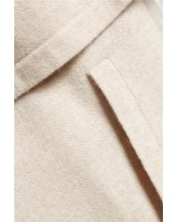 Brunello Cucinelli - Natural Tiered Cashmere Hooded Cardigan - Lyst
