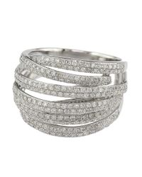 Effy | Metallic Diamond And 14k White Gold Ring, 1.05 Tcw | Lyst
