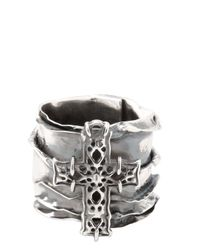 Emanuele Bicocchi | Metallic Sterling Silver Cross Ring for Men | Lyst