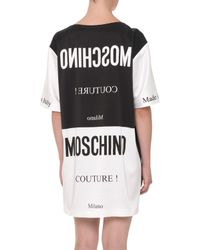 Moschino - Black Colorblock Upside-down-tag Dress - Lyst