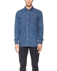 Won Hundred - Blue Leon Shirt for Men - Lyst