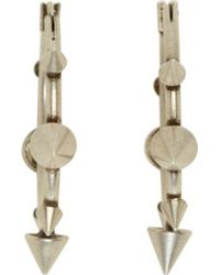 Isabel Marant - Metallic Silver Studded Hoop Downtown Earrings - Lyst