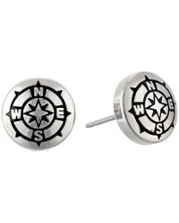 ALEX AND ANI - Metallic Compass Sacred Studs Post Earrings - Lyst