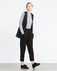 Zara | Black Loose Fit Trousers | Lyst