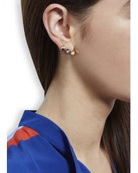 MFP MariaFrancescaPepe - Metallic 23Kt Gold Plated Swarovski Earrings - Lyst