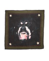 Givenchy   Black Rottweiler Print Scarf   Lyst