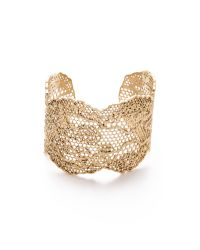 Aurelie Bidermann | Metallic Lace Cuff - Gold | Lyst