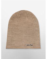 Calvin Klein - Black White Label Reversible Beanie - Lyst