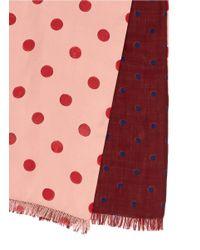 Paul Smith - Pink Polka Dot Silk Scarf for Men - Lyst