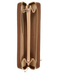 Guess - Brown Park Lane Large Zip Around Wallet - Lyst