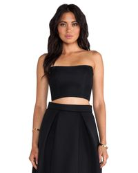 Nicholas - Black Embroidered Mesh Mini Bustier - Lyst