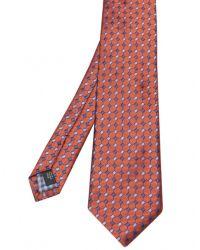 Jules B - Orange Small Diamond Tie for Men - Lyst