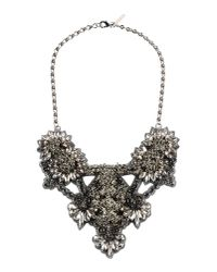 Deepa Gurnani - Gray Necklace - Lyst