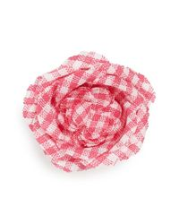 Hook + Albert - Pink Floral Lapel Pin - Fisher - Lyst
