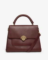 Ted Baker | Brown Large Circle Clasp Leather Tote Bag | Lyst