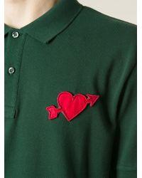 AMI - Green Heartbreaker Polo Shirt for Men - Lyst