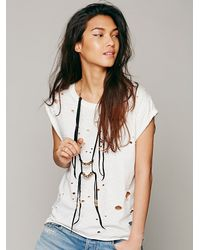 Free People - Black Marisa Haskell Womens Fortaleza Leather Necklace - Lyst
