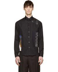 McQ - Black Patch Work Shirt for Men - Lyst